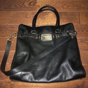 Black Leather Hamilton Purse Outlet Version